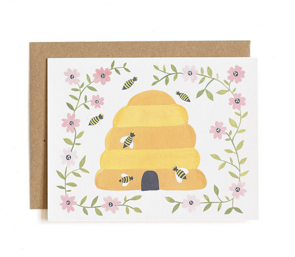 Bees Note Card - Print&Paper