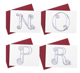Signature Monogram Collection Note Cards - Print&Paper