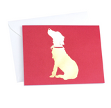 Gold Foil Dog Card - Print&Paper