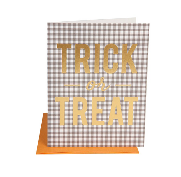 Trick or Treat Gingham Card