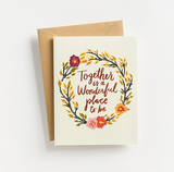 Together with You Wreath Card