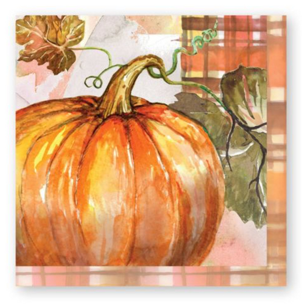 Fall Pumpkin Harvest Thanksgiving Luncheon Napkin - Print&Paper