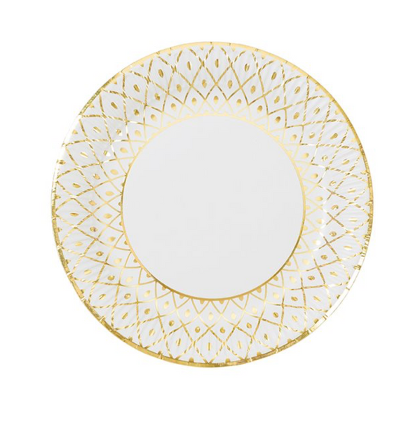 Party Porcelain Gold Medium Plates