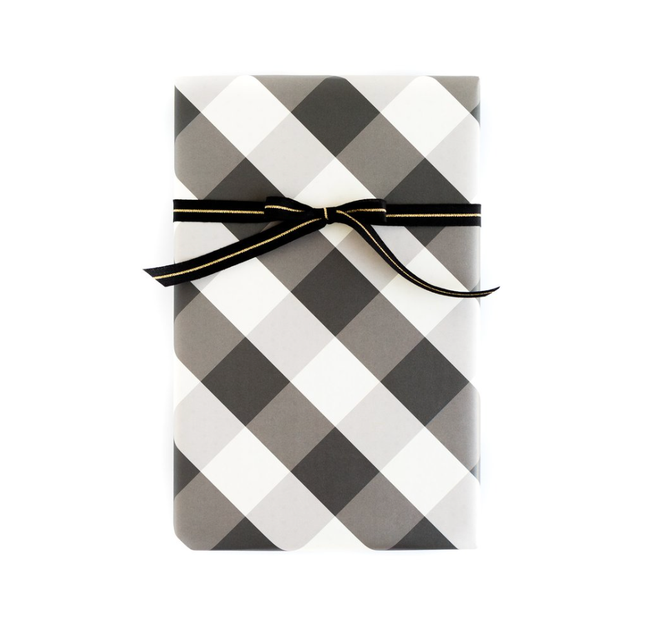 Black and White Plaid Buffalo Check Wrapping Sheets