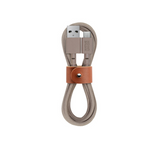 Tan charging cable 4ft