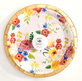 floral paper plate paper source