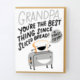 grandpa sliced bread card