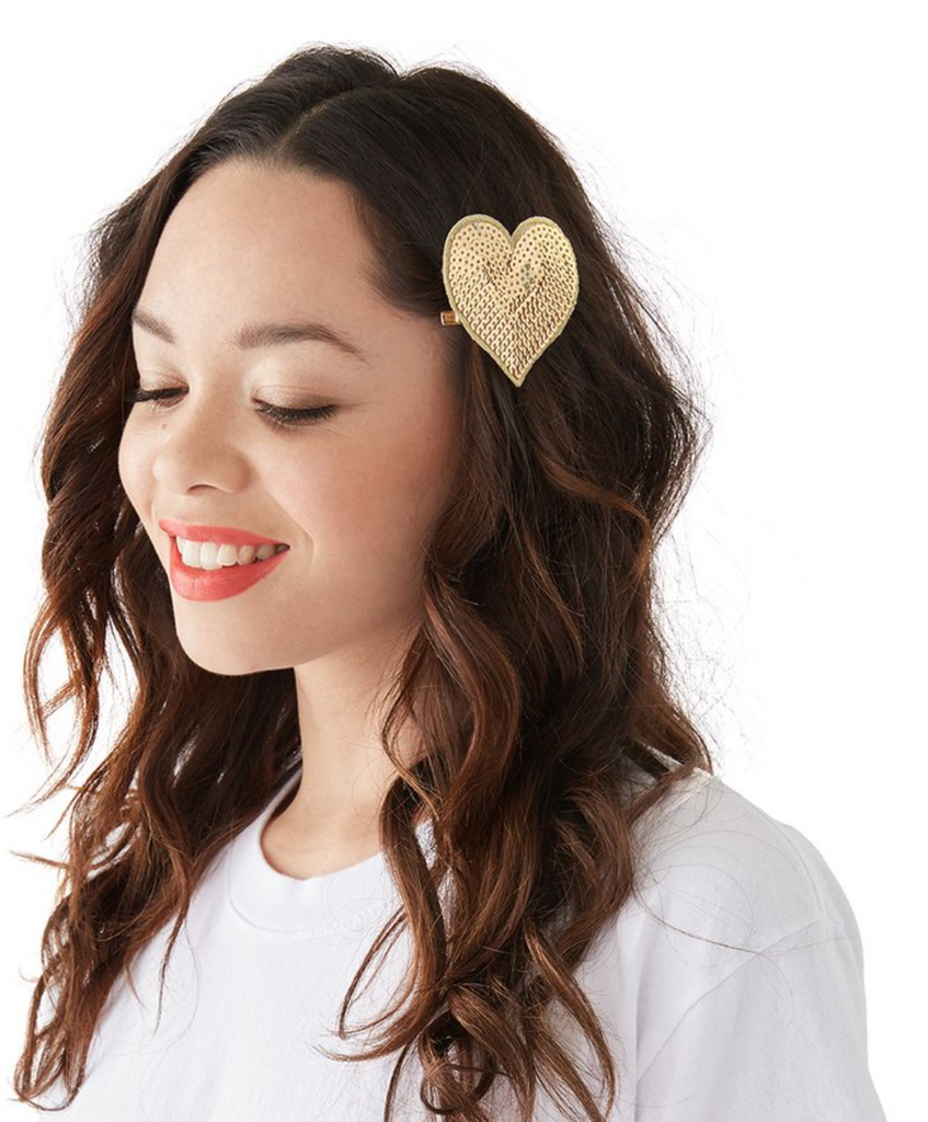 Sequin Heart Pin (choose color)