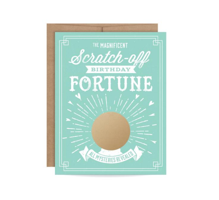 Inklings Birthday Fortune Scratch-Off Card