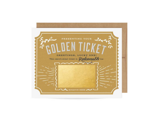 Gold Foil Dog Card