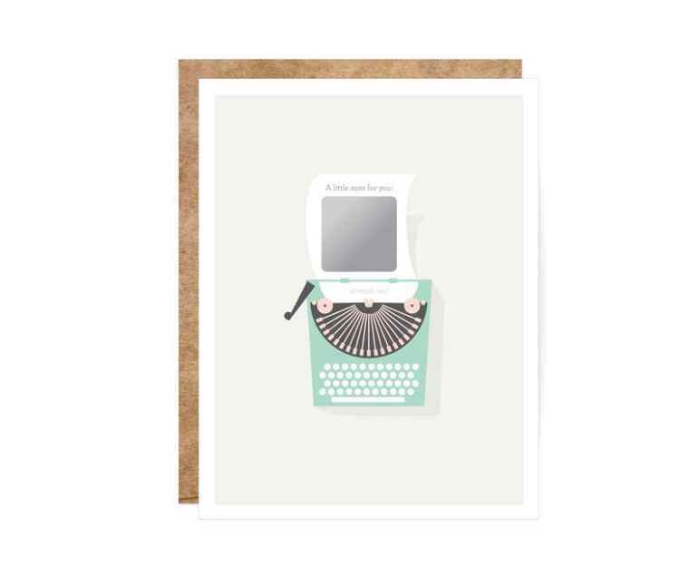 Inklings Vintage Typewriter Scratch-Off Card