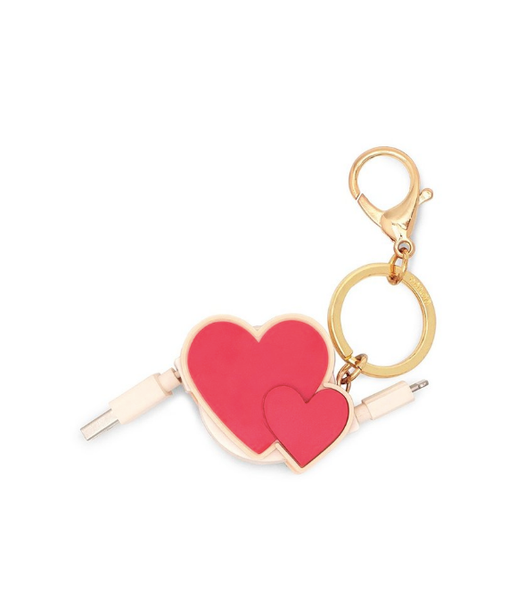 ban.do cluster hearts retractable charger keychain