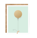 Mint and Gold Balloon Scratch Off Card