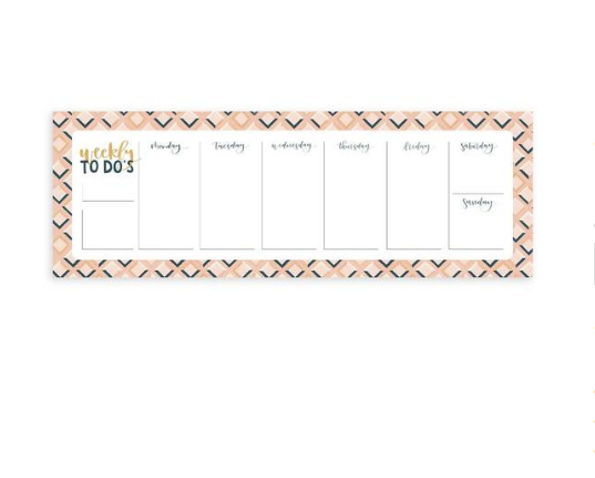 1Canoe2 Pink Tile Weekly Notepad