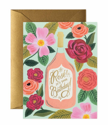 Pink Blooms Birthday Card