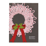 Candy Cane wreath smudge ink