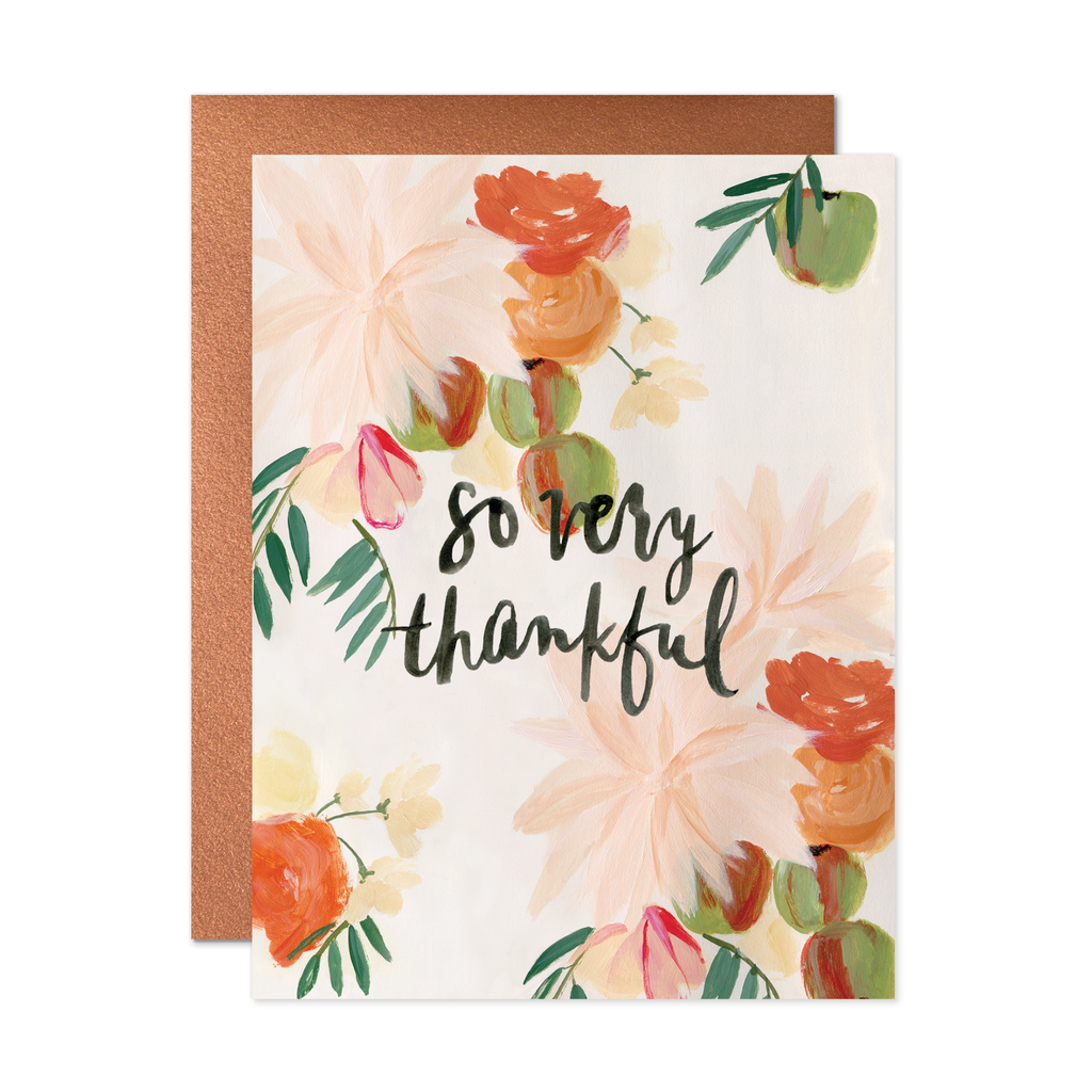 so very thankful card print paper
