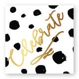 Chic Black and White Beverage Napkin