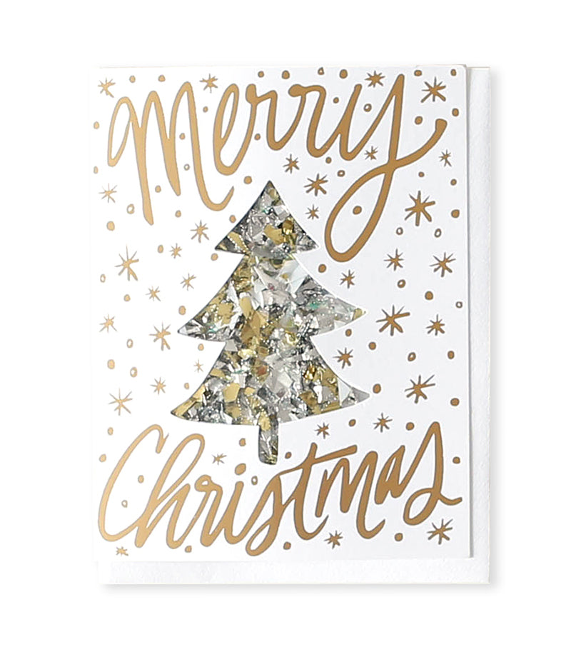 Merry Christmas Confetti Card – Print & Paper