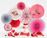Valentine (Red and Pink) Party Fans