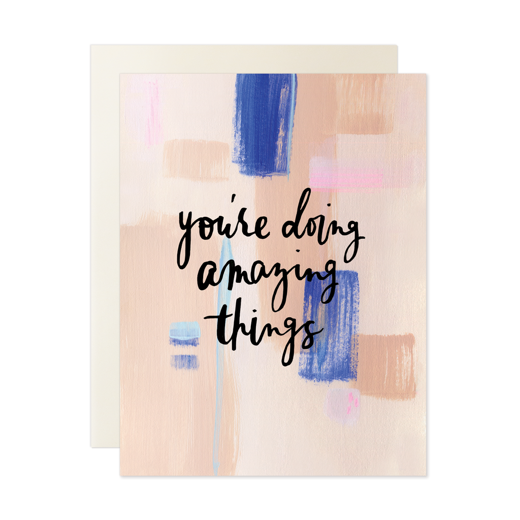 You're doing amazing