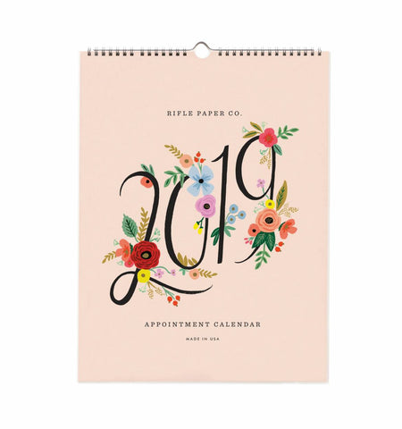 2019 Pink Tile Pocket Calendar