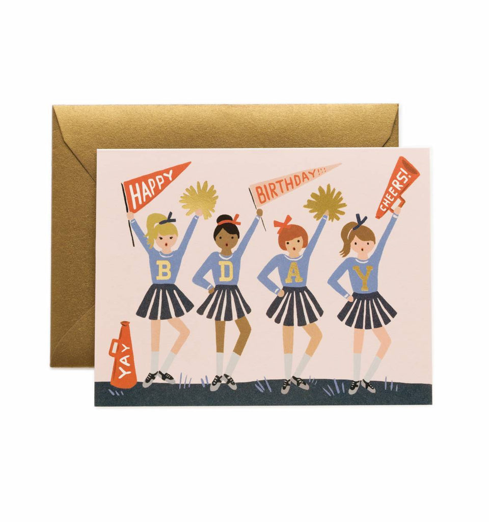 rifle cheerleader card