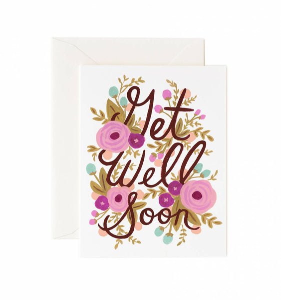 Get Well Soon Floral Card - Print&Paper