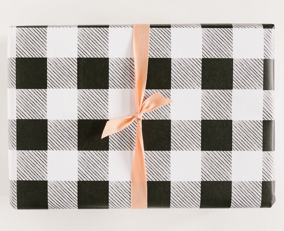black white plaid wrap