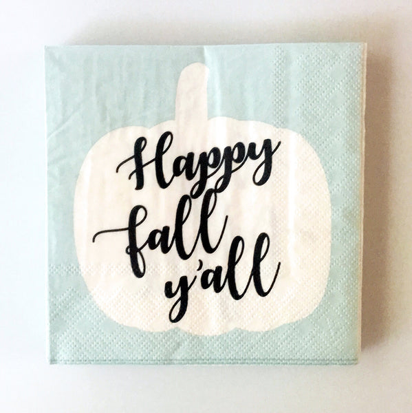 fall y'all napkins