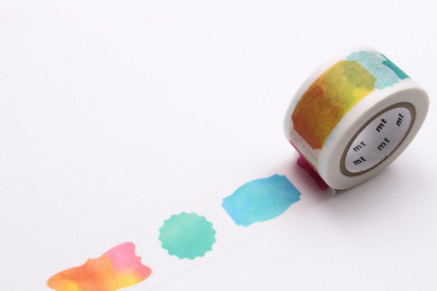 Washi Watercolor Label - Print&Paper