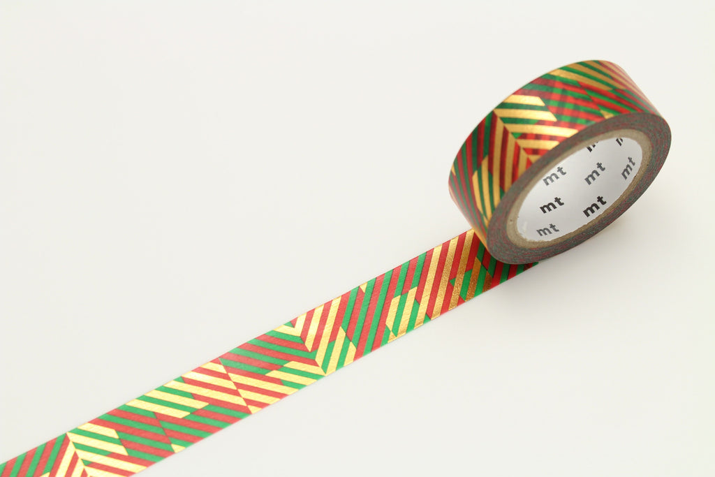 Washi Christmas Check 15mm - Print&Paper