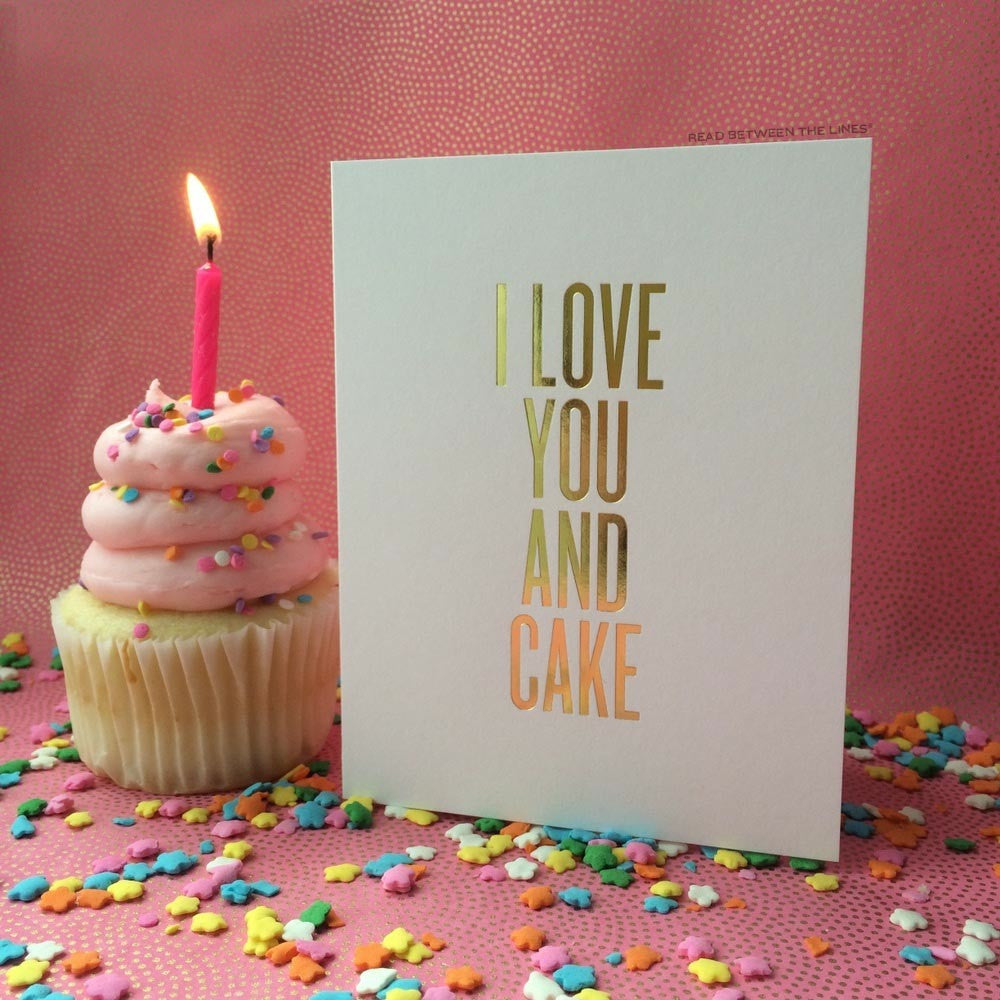 I Love You and Cake - Print&Paper