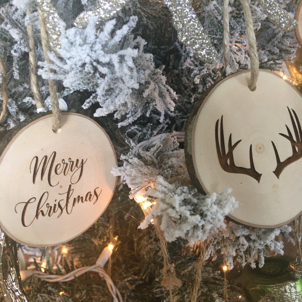 Wood Slice Ornaments / Gift Tag - Print&Paper