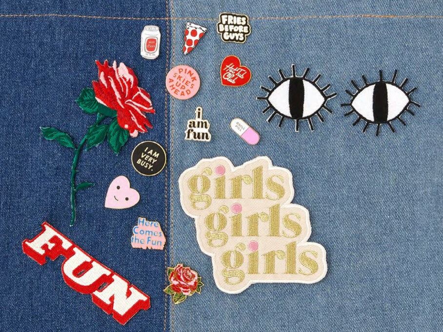 Girls Girls Girls Patch - Print&Paper
