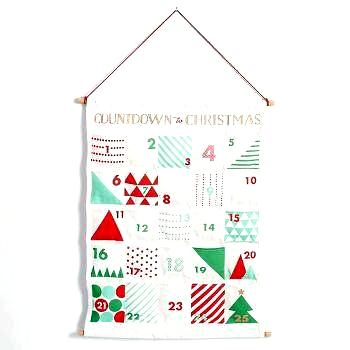 christmas advent wall hanging