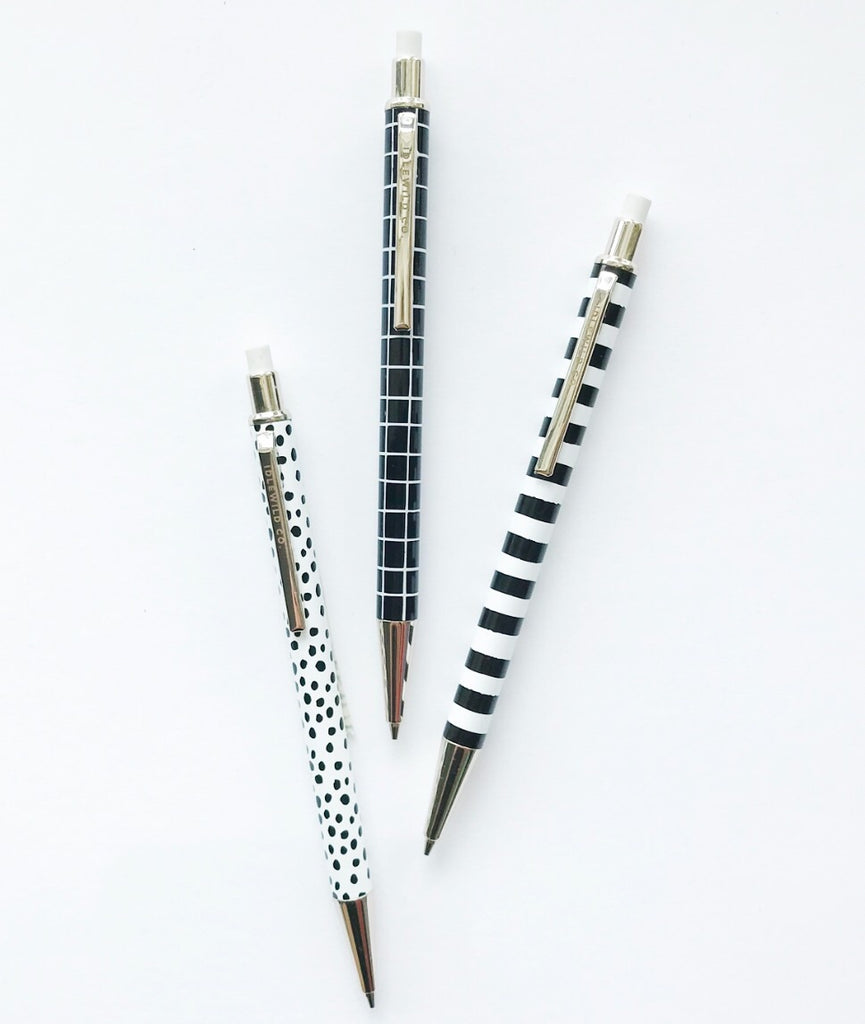 Black and White Mechanical Pencils