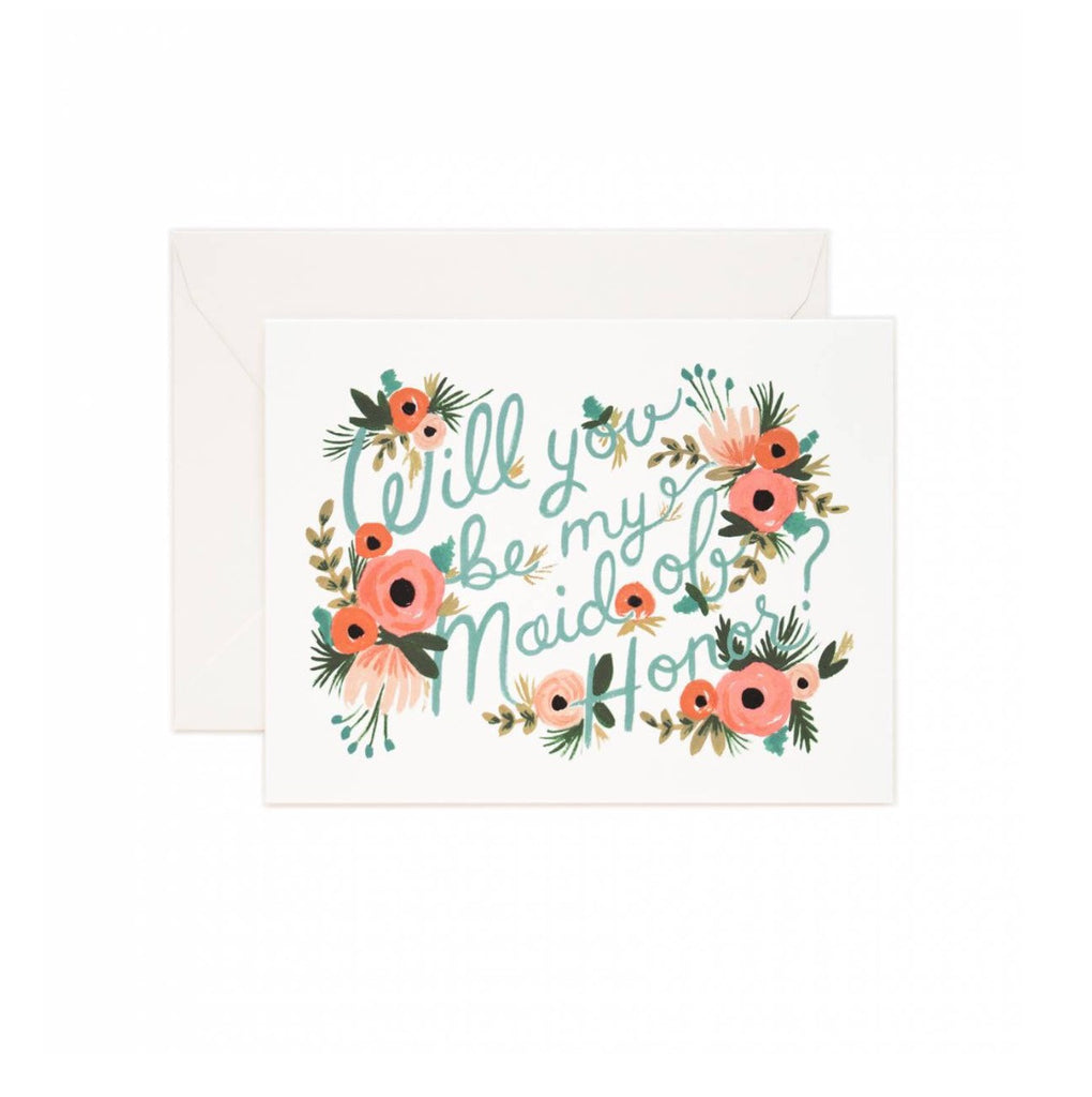 Maid of Honor Card - Print&Paper
