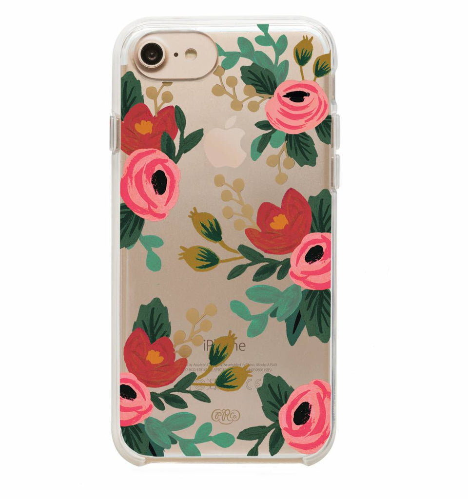 Clear Rosa iPhone Case (size options) - Print&Paper