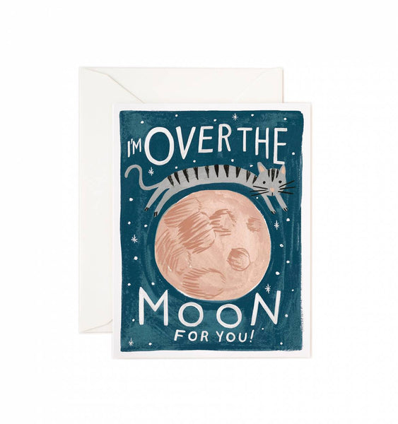 Over the Moon Card - Print&Paper
