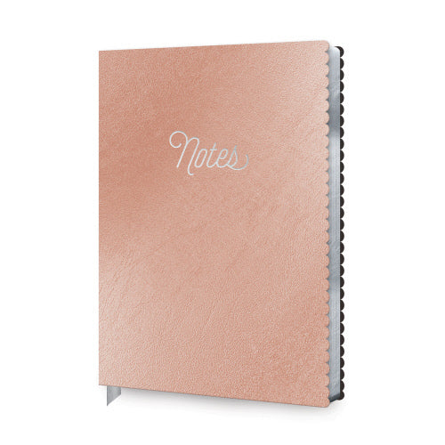 rose gold notebook