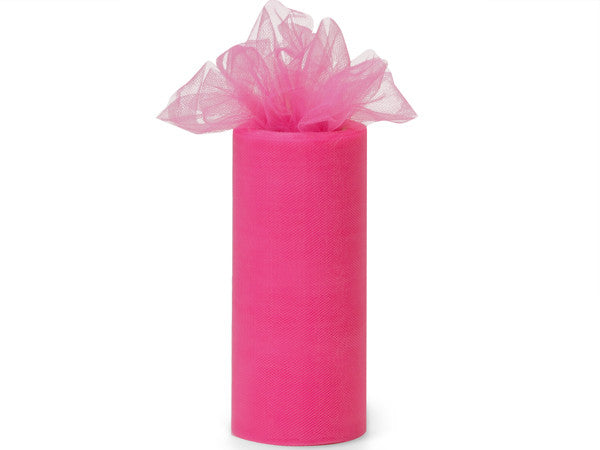 Hot Pink Tulle Ribbon - Print&Paper