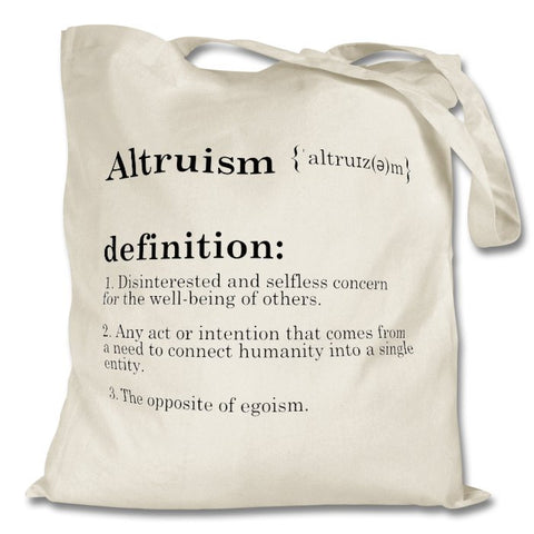 Altruism Definition Bag, White