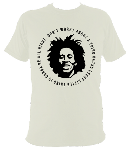 Bob Marley Quote T-shirt, Kids, Ice Grey