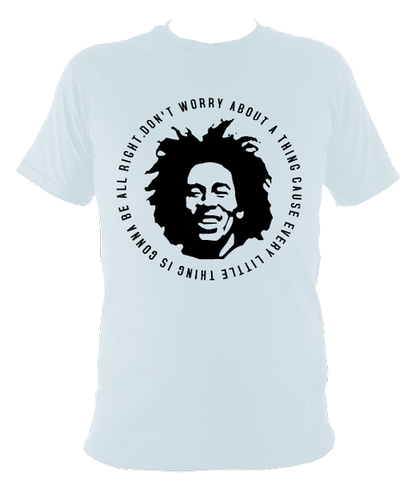 Bob Marley Quote T-shirt, Kids, Light Blue