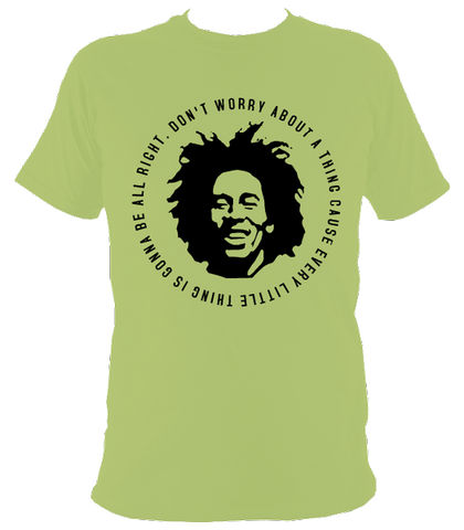 Bob Marley Quote T-shirt, Mens, Lime