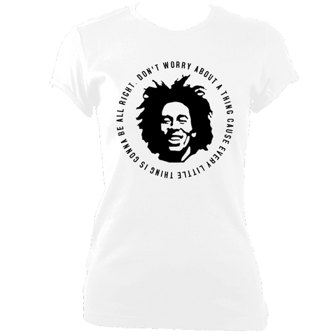 Bob Marley Quote T-shirt, Womens, White