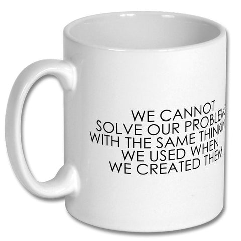 Albert Einstein Quote Cup