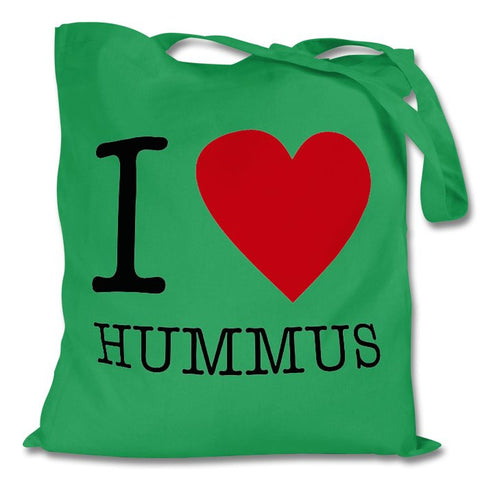 I Love Hummus Bag, Green