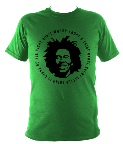 Bob Marley Quote Mens T-shirt, Irish Green